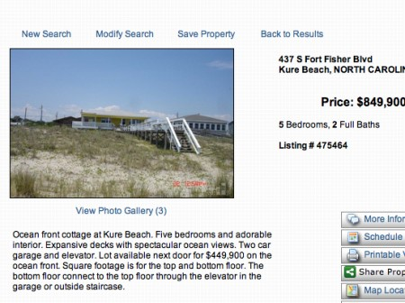 oceanfront kure beach home for sale