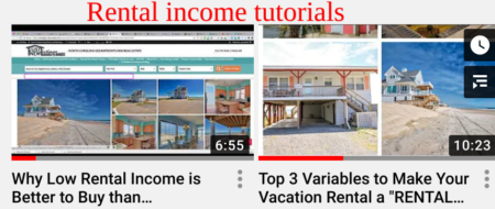 rental income tutorials videos for north carolina oceanfronts